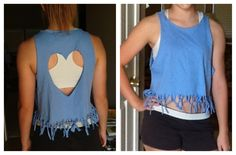 Another DIY cut t-shirt!!!!!