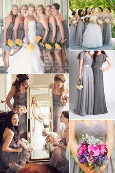 glacier gray bridesmaid dresses inspiration for spring summer wedding 2015