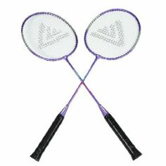 """Como Sports Nonslip Plastic Handle Badminton Rackets Black Purple Pair by Como. $16.98. Product Name : Badminton Rackets;Material : Plastic, Metal. Color : Black, Purple. Package Content : Pair x Badminton Rackets,1 x Storage Bag. Weight : 300g. Size : 65 x 20 x 2.5cm/ 25.6"""" x 7.9"""" x 1""""(L*W*T). Features in white string, nonslip handle, comfortable for you to play badminton sport with your friend. Comes up with convenient carrying storage bag for outdoor taking. Come wit... Badminton Sport, Badminton Racket, Tennis Racket, Racquet Sports, Bag Storage, Color Black, Outdoors, Purple, Pai"""