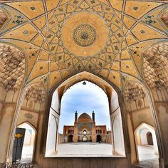 Agha Bozorg Mosque in Kashan, Isfahan province