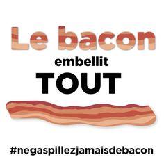 Faites la promesse « Ne gaspillez jamais de bacon » et vous pourriez gagner un approvisionnement d'un an de #BACON GRATUIT! Bacon, Stay Fresh, Unique Selling Proposition, Pork Belly