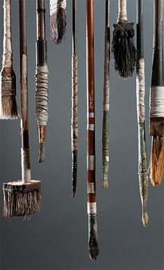 Ron Pippin.  Great idea for a hanging display in studio