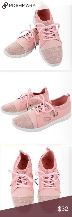 SALE!NWT Sneakers trainers soft shoes mesh lace-up are you a sneaker head? if so, well, let's just say you need these! these trendy kicks are too cute & are perf for a workout sesh or completing ur athleisure look! color: blush sizes: 6-11 material: upper: textile; outsole: PVC/textile Shoes Sneakers