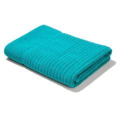 Metro Ribbed Cotton Bath Towel - Green