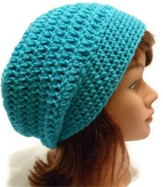 Crochet Oversized Slouch Beanie hat Snood Tam by AddSomeStitches, $26.00
