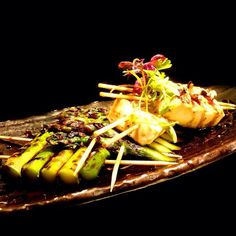 Want delicious & healthy #MeatlessMonday dinner? Try Tofu & Asparagus Skewers!  Char-grilled then served with teriyaki sauce, it's a popular dish for both vegetarian & none vegetarian! (^_−)☆