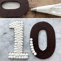How to make a Chocolate Icebox Number Cake - Simple Bites Chocolate Covered Marshmallows, Chocolate Wafers, Chocolate Shop, Mini Chocolate Chips, Chocolate Desserts, Chess Cake, Buffet Dessert, Chocolate Letters, Macaroon Cake