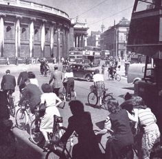 College Green, Dublin 1950s Dublin Street, Dublin City, Dublin Ireland, Ireland Travel, Old Pictures, Old Photos, Images Of Ireland, Castles In Ireland, Irish Landscape