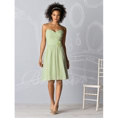 Bridesmaid Dress!!   A-line Strapless Sweetheart Sleeveless Knee-length Chiffon Bridesmaid / Wedding Party Dress