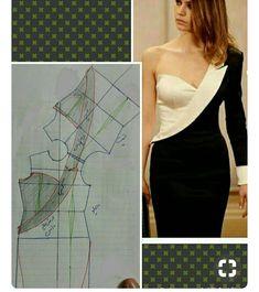 How to make off-shoulder bodice patterns Dress Sewing Patterns, Clothing Patterns, Blouse Patterns, Blouse Designs, Fashion Sewing, Diy Fashion, Sewing Clothes, Diy Clothes, Sewing Pants