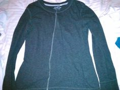 No Sew Sweater from an old long sleeve shirt. This is absolutely my type of DIY project.