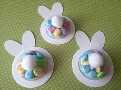 how cute are these DIY Easter Bunny Cups Spring Crafts, Holiday Crafts, Holiday Fun, Hoppy Easter, Easter Bunny, Easter Projects, Easter Treats, Easter Party, Easter Baskets