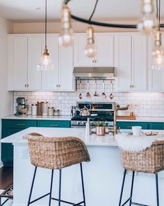 Pop of color kitchen
