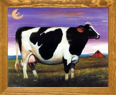 DeFrancesco Moon Over Holstein Cow Country Framed Art, Poster Prints, Art Prints, Posters, Holstein Cows, Barn Wood Frames, Cow Art, Picture Wall, Art Pictures