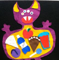 """I adapted (and by """"adapted,"""" I mean """"changed 3 words of"""") this Marian Swinger poem for a not-so-scary flannel board rhyme. The monster is ..."""