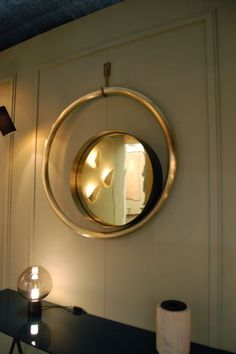 Solina Brass/polished mirror by CTO. Enquiries UBER-interiors.com