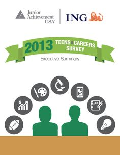 Today's teens want to pursue careers that will provide both financial rewards and job satisfaction. To gauge teens' perspectives on their ideal careers and what steps they will need to take to get on their desired career path, Junior Achievement USA and the ING Foundation recently conducted their 12th annual Teens & Careers Survey.