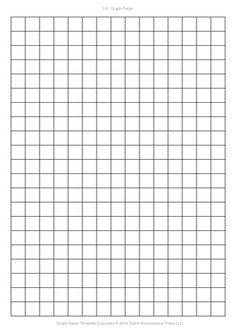 A4 Graph Paper Template PDF, 5mm squares, 210×297 mm