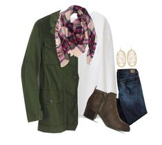 """{comment  if your ready for fall}"" by preppy-southern-girl-1-2-3 ❤ liked on Polyvore featuring Uniqlo, American Eagle Outfitters, J.Crew, Office and Kendra Scott"