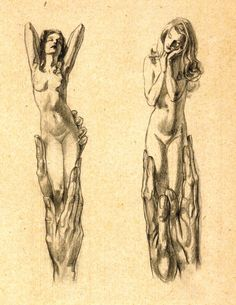 Conceptual Nudes :  Willy Pogany  :  circa 1911  Fine Art Giclee Print #Drawing