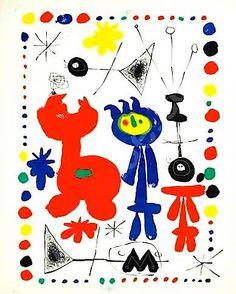 """Miró, """"Acrobate au jardin de nuit"""", 1948. Quand j'étais petite, je passais des heures à compter, recompter les points, les étoiles."""