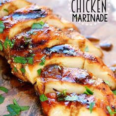 Amazing Look no further for the Best Chicken Marinade recipe ever! This easy recipe is s. Look no further for the Best Chicken Marinade recipe ever! This easy recipe is sure to become your new favorite! Moist chicken and amazing flavor! Chicken Marinade Recipes, Recipe Chicken, Best Grilled Chicken Marinade, Marinade Sauce, Quick Marinade For Chicken, Chicken Breast Marinades, Overnight Chicken Marinade, Summer Chicken Recipes, Healthy Grilled Chicken Recipes