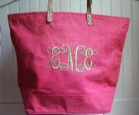 I want this monogrammed beach bag ... because you can never have enough!