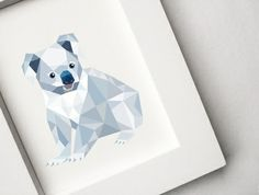 Koala, Geometric animal print, Original illustration