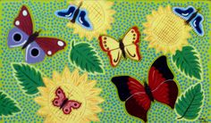 "ABORIGINAL ORIGINAL ""BUTTERFLIES 2""  Painted By Jacky Coles Size 300 x 500 mm ON ACRYLIC CANVAS   All Paintings are signed and dated by the Artist ORIGINAL PAINTING USING ACRYLICS"