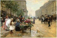 """Louis Marie de Schryver (French, 1862-1942) """"Rue Royale Paris"""", 1898"""