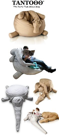 TANTOOO: New Kids Bean Bags From Italy.. FOR ME OR BBY! I Jksut Want It! Lol
