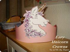 {Easy Unicorn Birthday Crowns} DIY