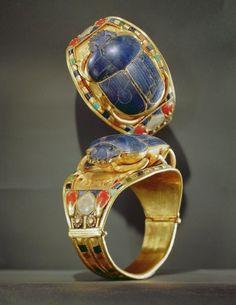 Scarab Bracelet Excavated from the Tomb of Tutankhamun