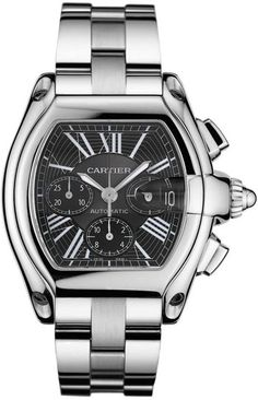 Mens Roadster - This is a Great Watch for Women Too! - Love the Black Face! - Cartier