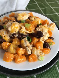 Cheese is melted over a casserole made of sweet potatoes, chicken, beans, and seasoning for a delicious comfort food casserole! Chicken Casserole, Casserole Dishes, Casserole Recipes, Ww Recipes, Chicken Recipes, Healthy Recipes, Healthy Foods, Dinner Recipes, Food Print