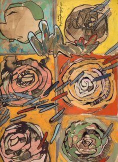 Ignacio Klindworth. Boceto para la serie #Orgánicas. Mixta y guash sobre papel. 33x33cm. Madrid 2001. www.ignacioklindworth.es