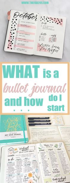 "What exactly is a bullet journal? And How do I get started? The Bullet Journal is meant ""to help you track the past, organize the present, and plan for the future.It is the perfect system for those of us that cant seem to work with planners or have too many notebooks to keep us organized. #bulletjournal #bujo #bujocommunity #bulletjournalideas #organize"