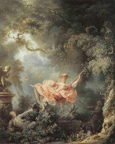 Jean Honore Fragonard - The swing (IT:  I fortunati casi dell'altalena), 1767  France