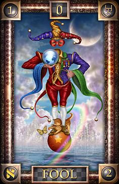 THE FOOL | **Reading** | Symbolize Beginnings | Courageously Leaping off into some New Phase of Life, esp when Leap is Taken from some Inner Feeling