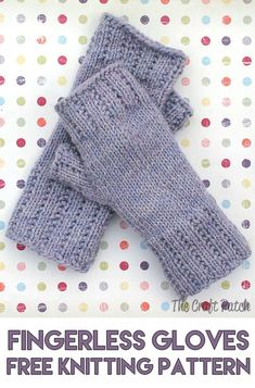 Happy Hands Fingerless Mitts Free Pattern - The Craft Patch - Crochet and Knitting - These knitted fingerless gloves are so cozy in winter. Free knitting pattern and photo tutorial. Knitting Terms, Knitting Patterns Free, Free Knitting, Knitting Machine, Knitting Tutorials, Loom Knitting, Free Tutorials, Vintage Knitting, Easy Knitting Projects