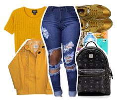 """CAROLINE"" by pinksemia ❤ liked on Polyvore featuring Monki, NIKE and MCM"