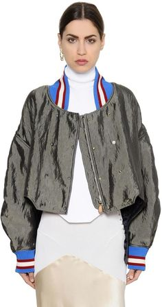 Cropped Satin Bomber Jacket | #Chic Only #Glamour Always