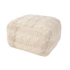 Soft and sweet this sweater knit style pouf is a great addition to help make a room feel warm and inviting.