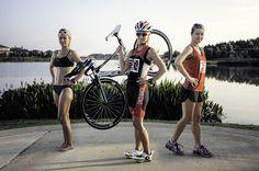 Swim Bike Run - Ironman Shelley O.  poses for a triathlon portrait.