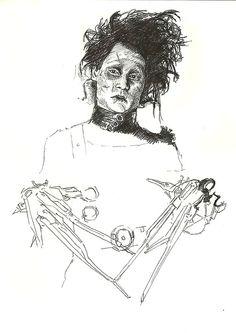My Biro sketch of Edward Scissorhands/ Johnny Depp Brunnock Johnny Depp Fans, Johnny Depp Movies, Johnny Depp Edward Scissorhands, Biro Art, Tim Burton Beetlejuice, Grunge, Tim Burton Art, Fantasy Artwork, Art Sketches