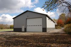 Pole Barn Gallery – Pole Barns Direct Small Shed Plans, Wood Shed Plans, Small Sheds, Shed Building Plans, Diy Shed Plans, Steel Garage Buildings, Pole Buildings, Shop Buildings, Gambrel Barn
