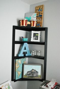DIY corner shelf.