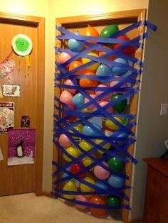 Birthday balloon avalanche