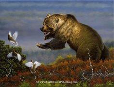 """Flushed"" -mansanarez Wildlife Art by Tom Mansanarez, limited edition prints featuring elk, deer, antelope, moose, cats, cougar, mountain lion, hounds, horses, and bobcats. - Limited Edition Prints"