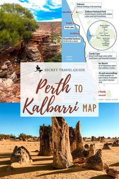 7 days in Western Australia - from Perth to Exmouth — secret-travel. Australia Funny, Australia House, Perth Western Australia, Australia Travel, Melbourne Australia, Travel Maps, Travel Posters, Road Trip Map, Road Trips
